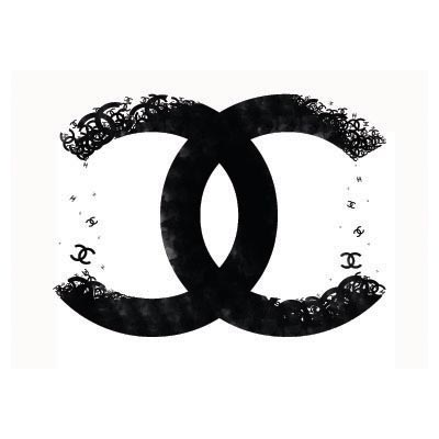 Design chanel logo Water Transfer Temporary Tattoo(fake Tattoo) Stickers No.100021