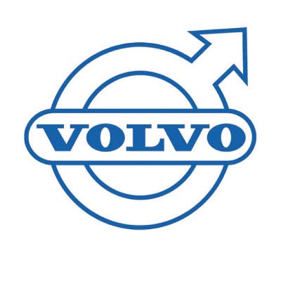 Design volvo logo Fake Temporary Water Transfer Tattoo Stickers No.100310