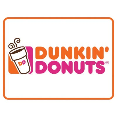 Design dunkin donuts logo Fake Temporary Water Transfer Tattoo Stickers No.100419
