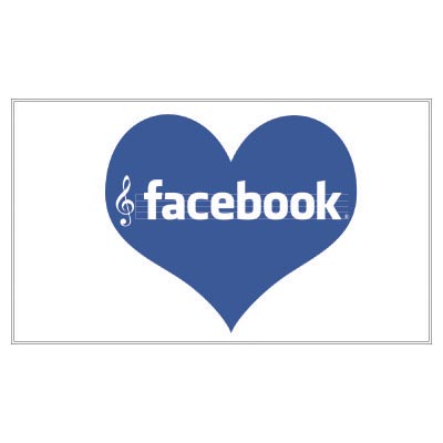 Design facebook logo Fake Temporary Water Transfer Tattoo Stickers No.100500